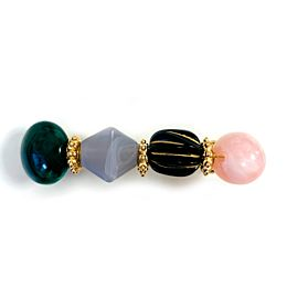 Pink Stone Clip