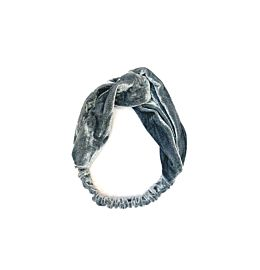 Velvet Headband Grey